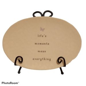Carson Decorative Plate w/ Display Easel - Quote